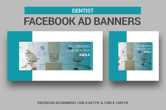 Dentist Facebook Ad Banners