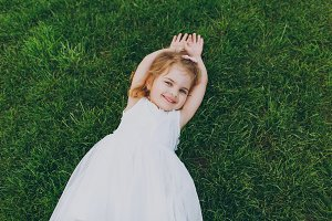 Smiling little cute child baby girl
