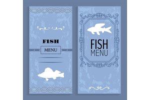 Elegant Vintage Vector Seafood or