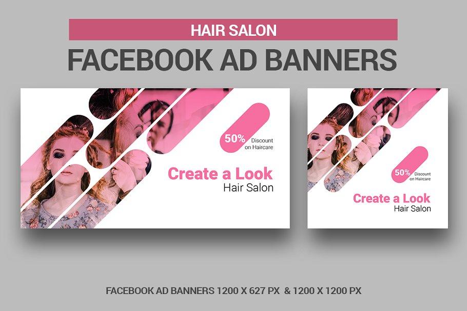Hair Stylist Salon Creative Photoshop Templates Creative Market