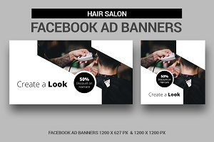 Hairs Salon Facebook Ad Banners