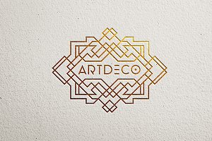 9 Art Deco Logo Template