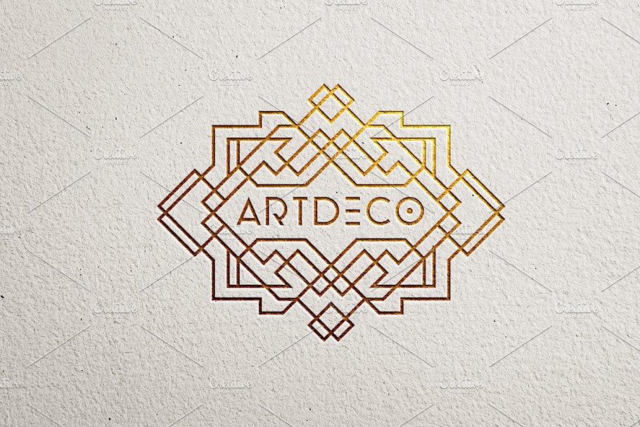 9 Art Deco Logo Template | Creative Daddy