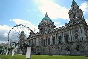 Belfast City Hall in backlight