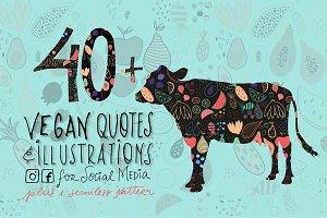 SocialMedia Illustrated Vegan Quotes