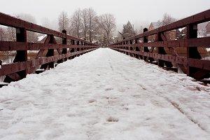 Bridge with snow