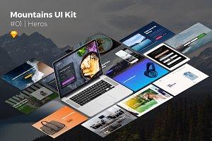 Mountains Kit | Web Headers & Heros