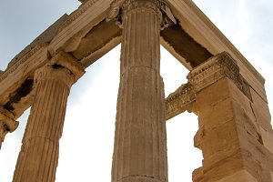 Greek Column against sky