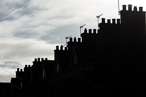 Silouette of Roof and chimneys in Be