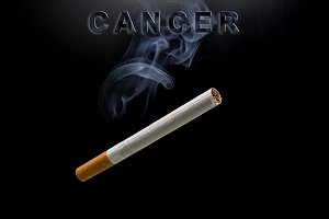 cigarette, smoke and text cancer