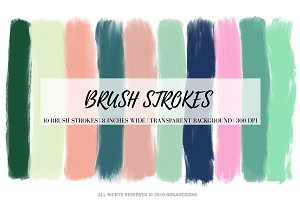 Brush Strokes Clipart
