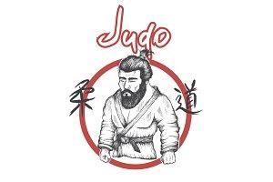 judo logo with judoka