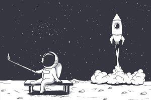 astronaut photographs himself