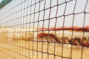 Background of the volleyball net on