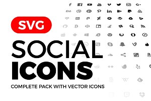 SVG Social Media Icons Vector