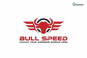 Bull Speed Logo Template