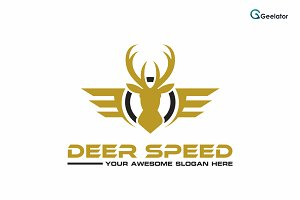 Deer Speed Logo Template
