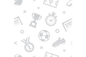Soccer seamless pattern. Sport