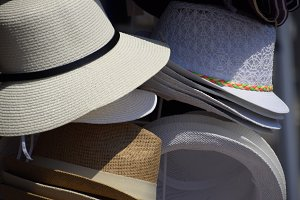 Hats from the sun. Hats in the