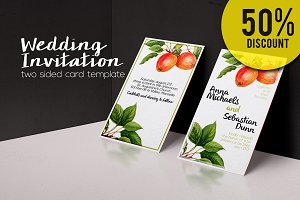 50%OFF  Botanical Wedding Invitation