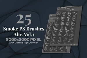 25 Smoke PS Brushes Abr. Vol.1