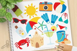 Summer Vacation, Beach Clipart, SVG