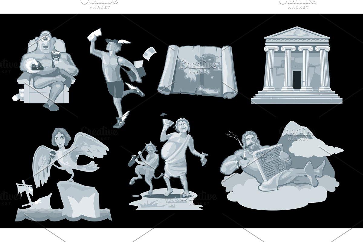 Set Ancient greek god in the present