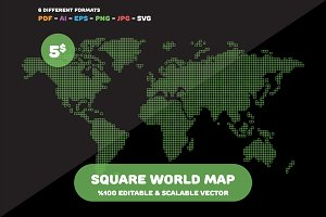 Square World Map