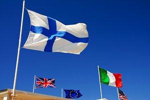 Europe comunity flags