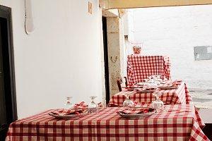 Table set in Cisternino