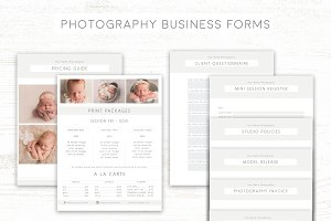 Photography Business Form Templates