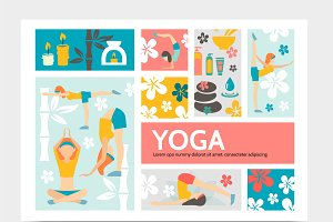 Yoga and harmony infographic concept