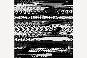 Seamless tire pattern