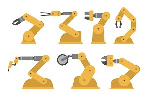 Set of robotic arms