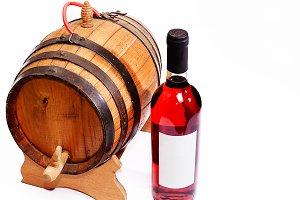 Bottle and mini barrel