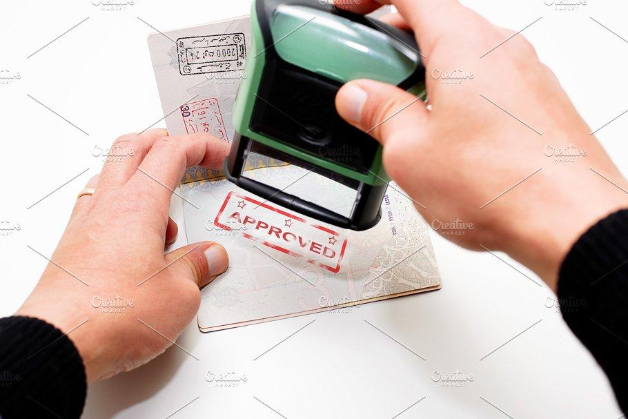Stamping Passport Photos Creative Market