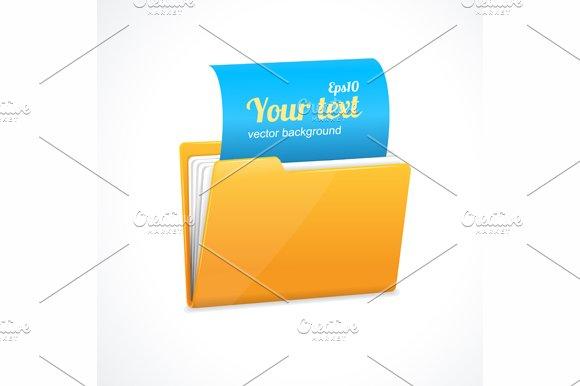 Yellow file folder icon isolated