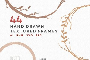 Elegant hand drawn circle frames