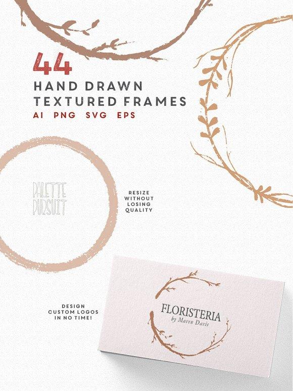 Elegant Hand Drawn Circle Frames Illustrations Creative Market