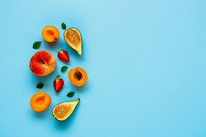 Fresh summer fruits