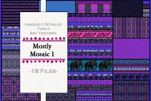 Mosaic Fun: Stripe, Elephant, Dots