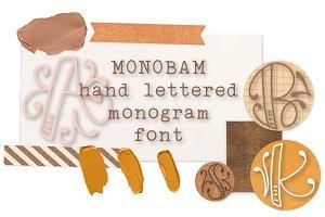MONOBAM -Hand Lettered Monogram Font