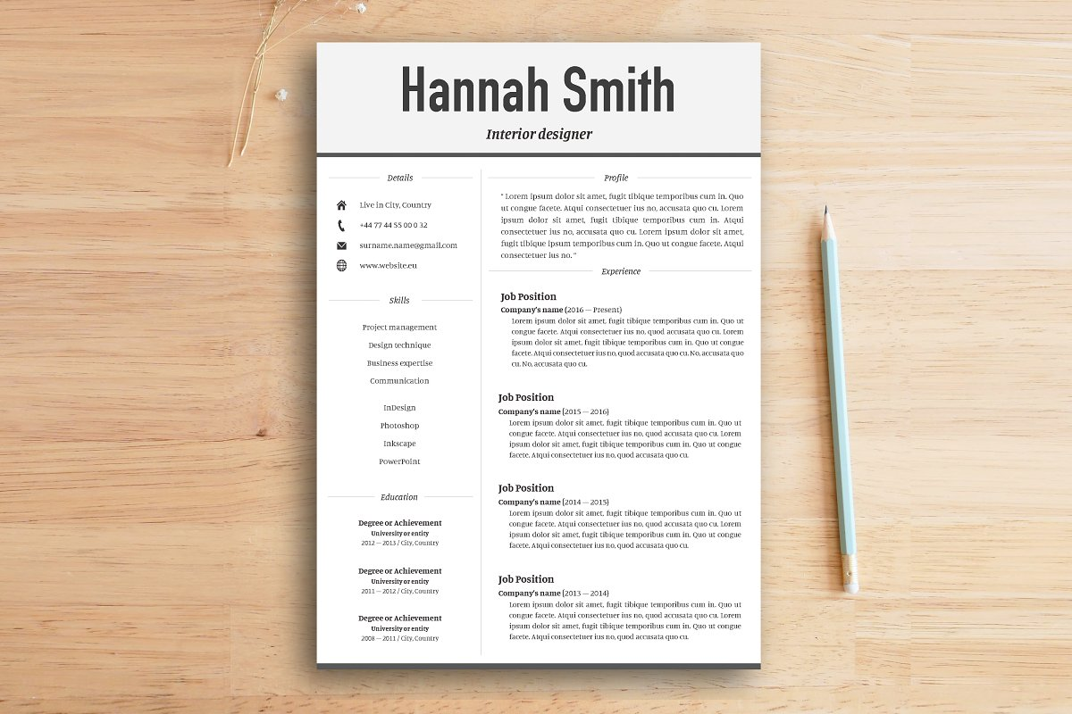 Resume Cover Letter Modern Templates Creative