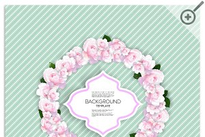 Marriage invitation card with flower