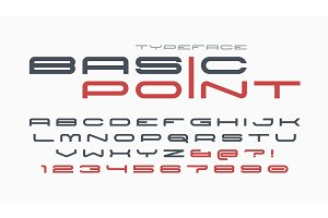 Futuristic and techno display font