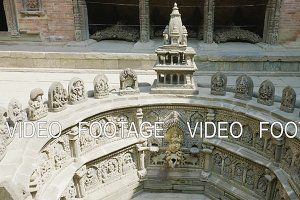 The famous ancient fountain in Patan