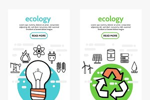 Ecology and energy vertical banners