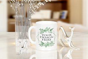 Mug White Mockup, Coffee