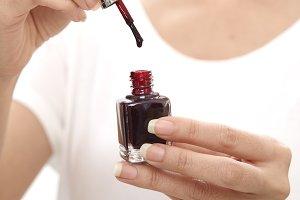 Close up of Nail polish
