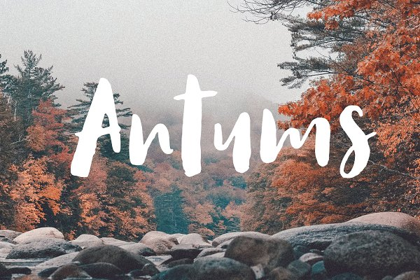 Fonts: Siwox Studios - Antums Brush